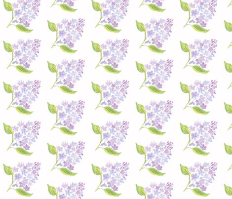 Lilac Flowers Watercolor fabric by sleepingdogquilts on Spoonflower - custom fabric
