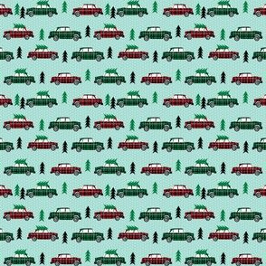 christmas trees on cars buffalo plaid christmas fabric cute christmas fabric design micro print