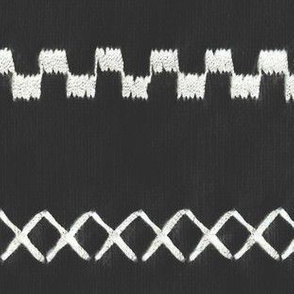 Woven stripe white stitch on charcoal mud cloth mudcloth african mudcloth gray grey