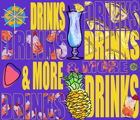 Hawaiian_Drinks_Motif-2 fabric by 1kristen on Spoonflower - custom fabric