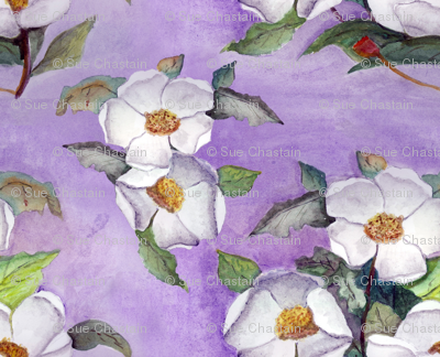 Southern Magnolias Watercolor