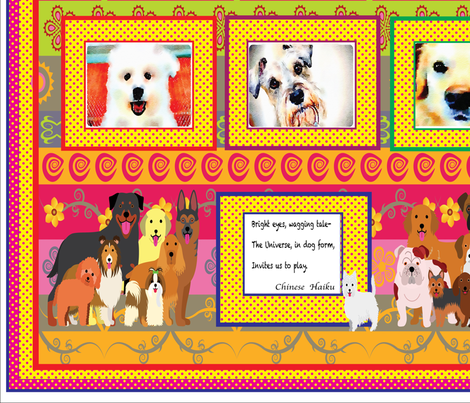 Dog_Quilt_with_borders1 fabric by quilterkimie on Spoonflower - custom fabric