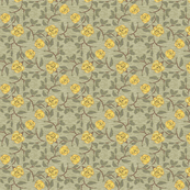 Old Fashioned Yellow Roses on textured ground