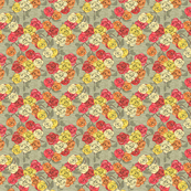 Old Fashioned Multi color roses on textured ground