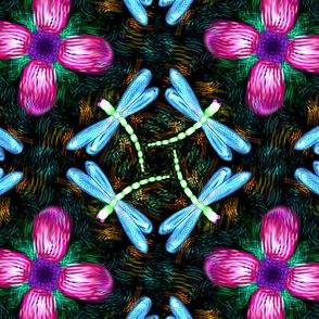Neon Dragonflies