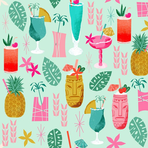 blue hawaii drinks hilton hawaii fabric