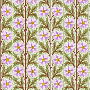 floral motif stripes