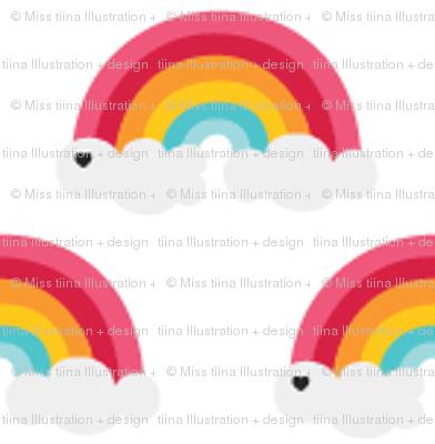 sunny stormy rainbows on white xsm