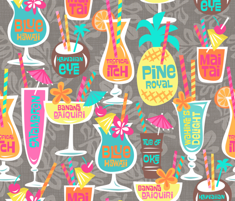 Harry's Happy Hour fabric by bzbdesigner on Spoonflower - custom fabric