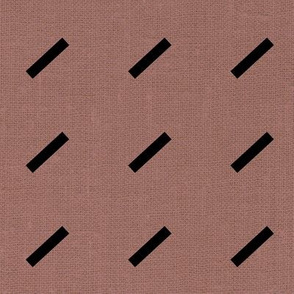 Dash Dash Linen - Deep Mauve