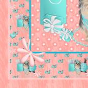 "Yorkie - Brandy Tiffany - Quilt Panel 42"""