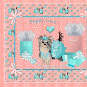 Yorkie - Brandy Tiffany - Pillow