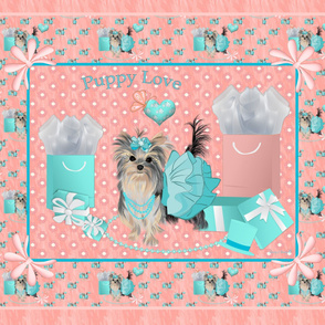 Yorkie - Brandy Tiffany - Quilt Panel