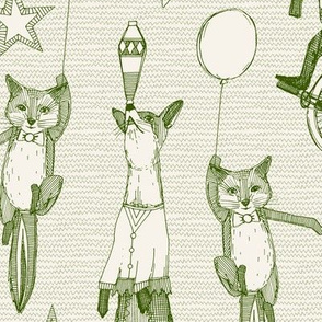 foxy circus green ivory