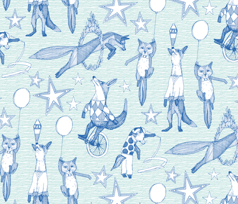 foxy circus fabric by scrummy on Spoonflower - custom fabric