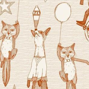 foxy circus rust ivory