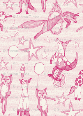 foxy circus pink ivory