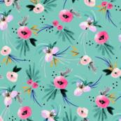 Calypso Floral Turq