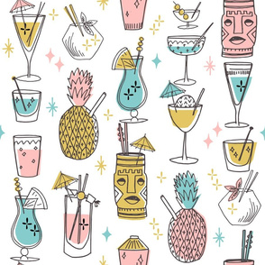 Retro Cocktails fabric