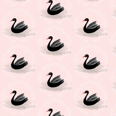 Coco_the_Handsome_Romance Pink fabric by blackwooddesign on Spoonflower - custom fabric