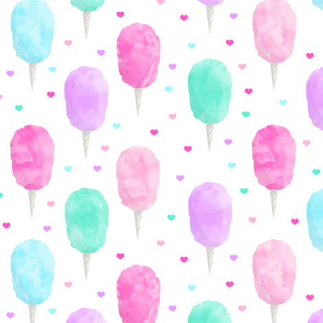 cotton candy with hearts  fabric by littlearrowdesign on Spoonflower - custom fabric
