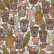 Tiki Cups & Beachy Drinks - White Shells