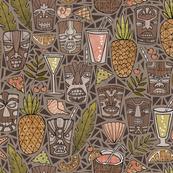 Tiki Cups & Beachy Drinks - Earth Tones Dark