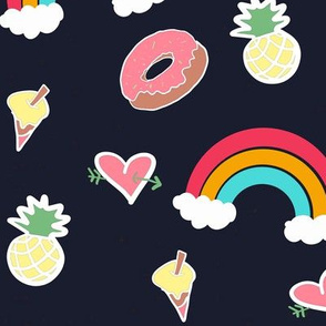 Rainbows and sweets