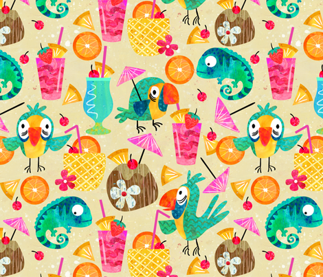 Chillaxin fabric by sarah_treu on Spoonflower - custom fabric