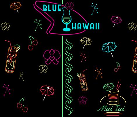 Hawaii Nite Life fabric by terrorbunny on Spoonflower - custom fabric