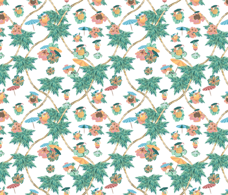 palms and drinks fabric by arrpdesign on Spoonflower - custom fabric