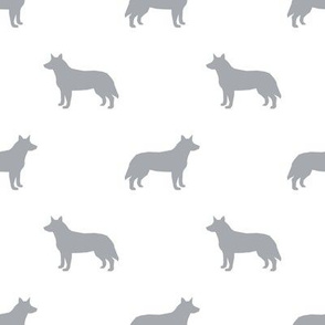 Australian Cattle Dog silhouette grey