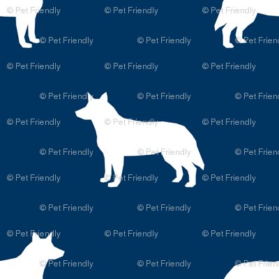 Australian Cattle Dog silhouette navy