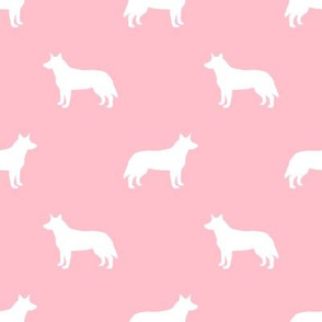 Australian Cattle Dog silhouette pink