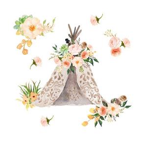 "14"" Floral Aztec Teepee"