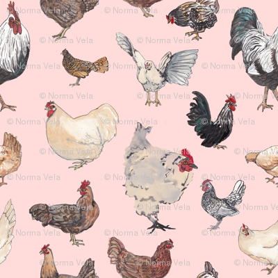 Chicken Happy in Pink