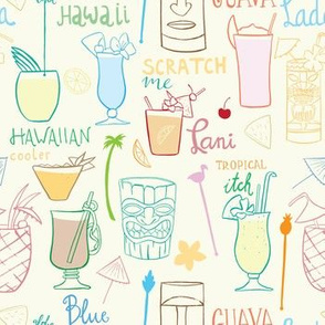 Blue Hawaii and other drinks