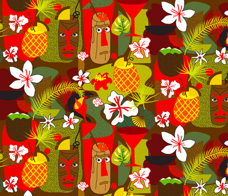Hawaiian Cocktails fabric by orangefancy on Spoonflower - custom fabric