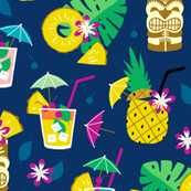 Hawaiian summer cocktail party