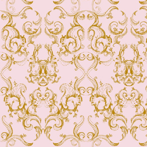 BACKYARD DAMASK_GOLD