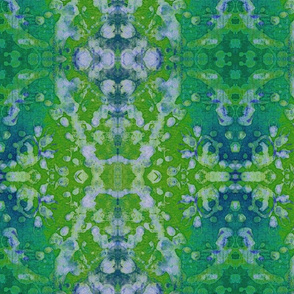 blessed batik green blue