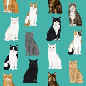 Cats fabric pattern cat breeds 2