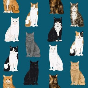 Cats fabric pattern cat breeds 4