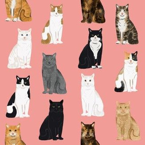 Cats fabric pattern cat breeds 5