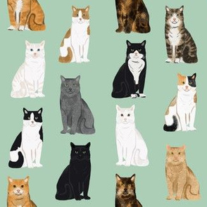 Cats fabric pattern cat breeds 6