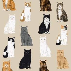 Cats fabric pattern cat breeds 9