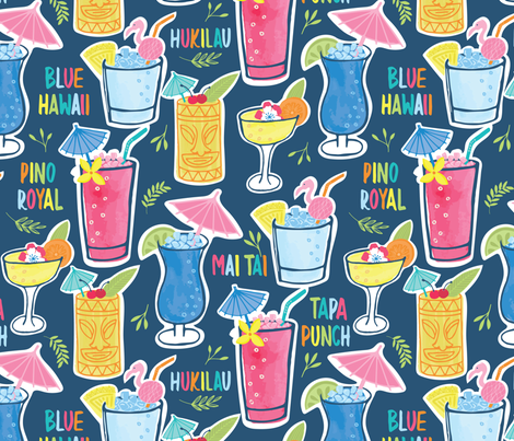 Drink O'Clock fabric by bethschneider on Spoonflower - custom fabric