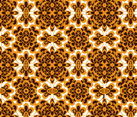 old-lace-black-golden_orange fabric by colormedesign on Spoonflower - custom fabric