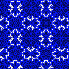 old lace cobalt blue