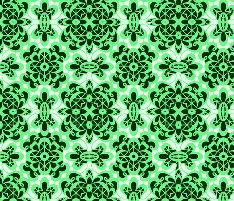old lace light green green fabric by islandsoftime,llc on Spoonflower - custom fabric